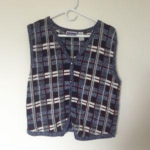 Vintage North Crest sweater vest